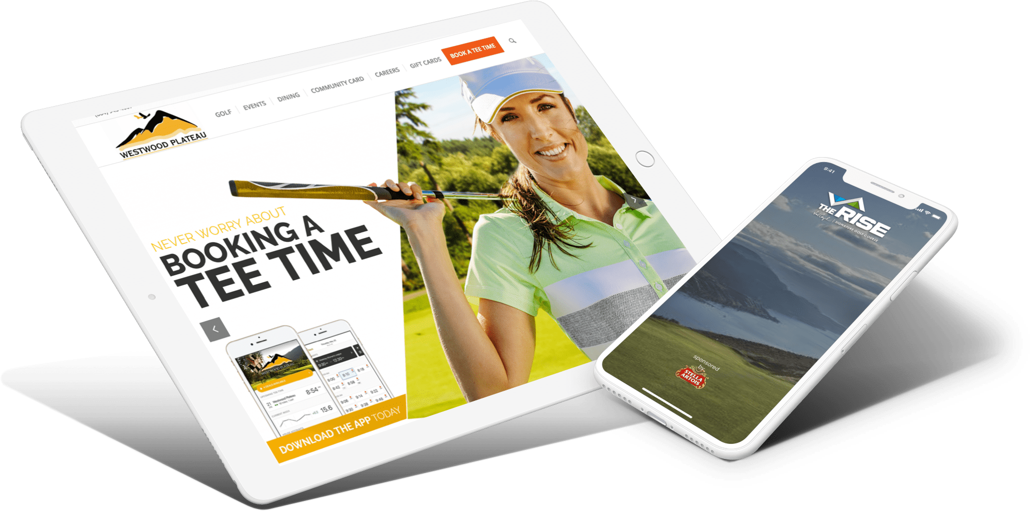 golf website design