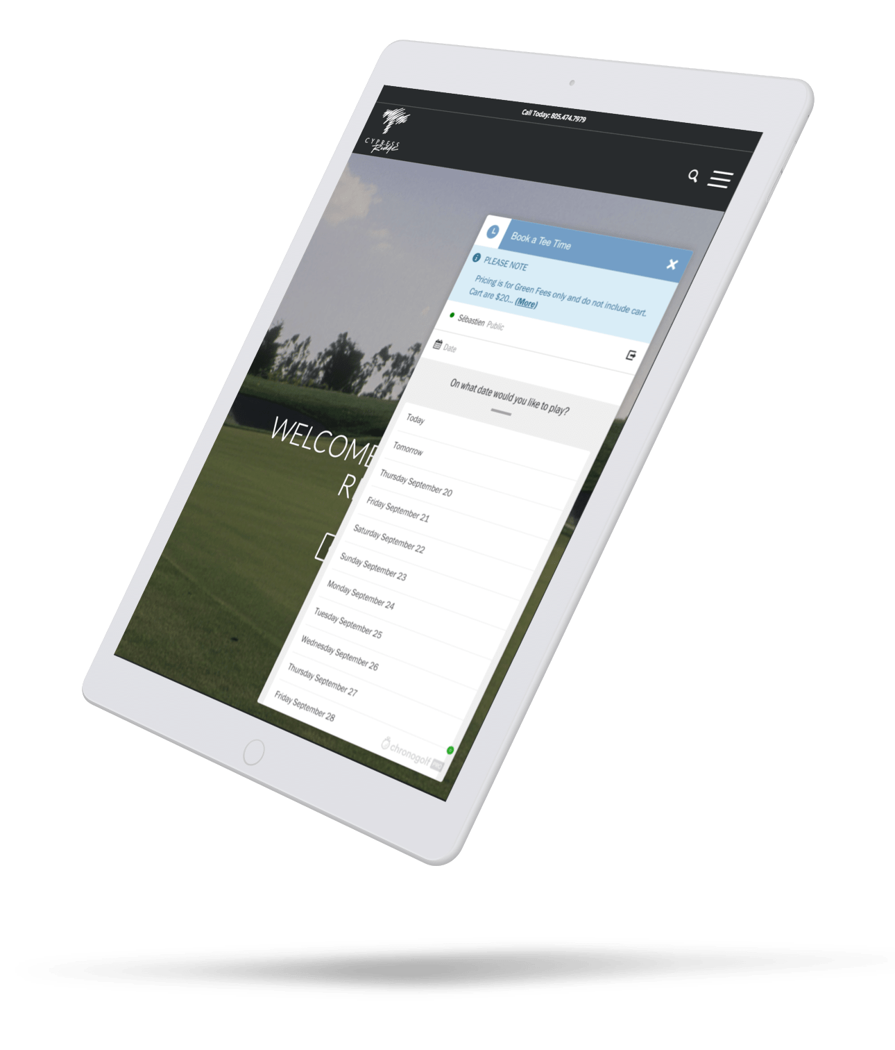 golf online reservation system
