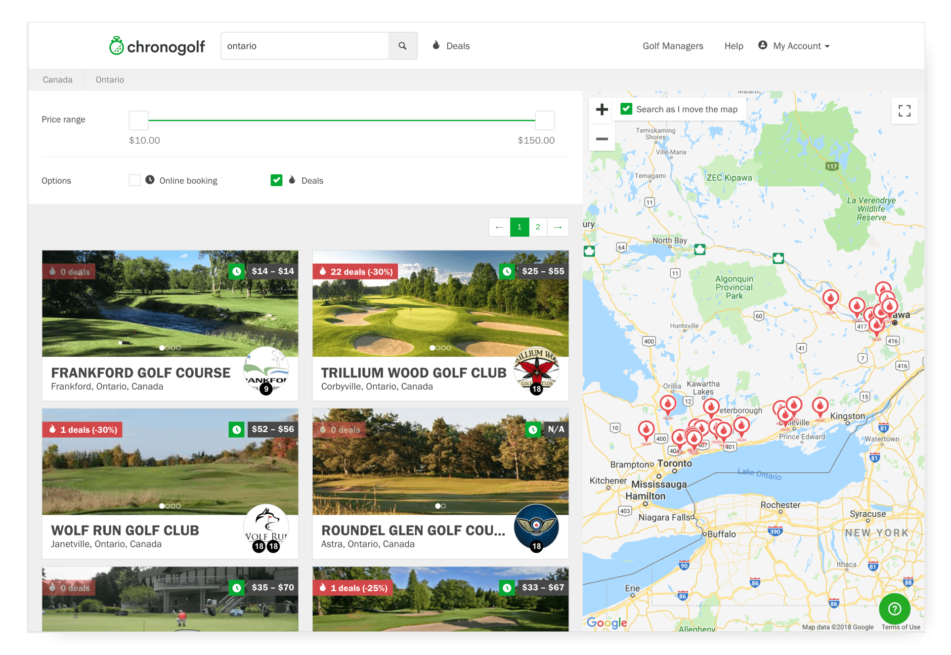 golf online marketplace