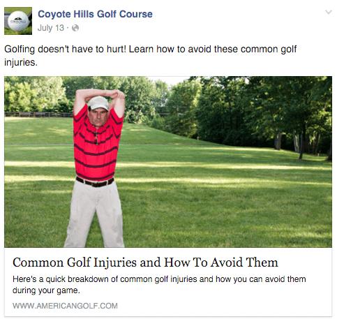 golf social media marketing