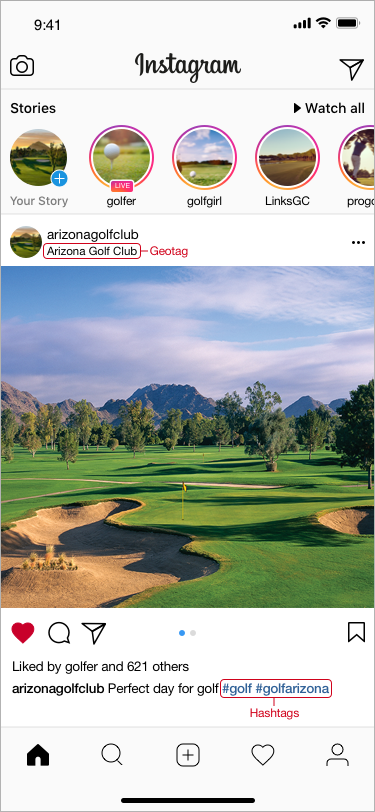 instagram marketing golf courses