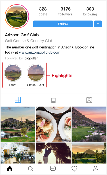 golf course instagram page
