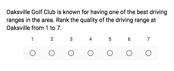 golf course survey template