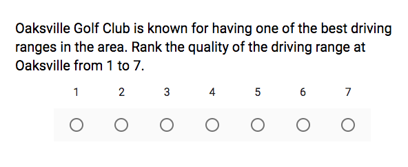 golf course survey template