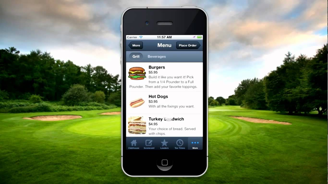 golf course restaurant ideas