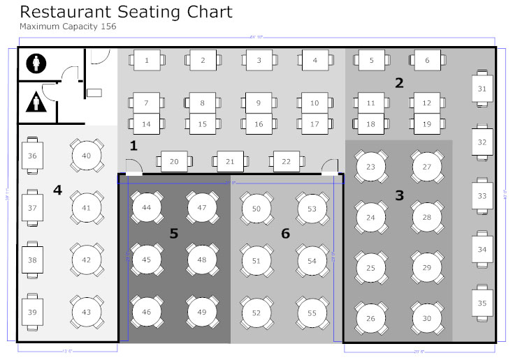 efficient golf restaurant layout