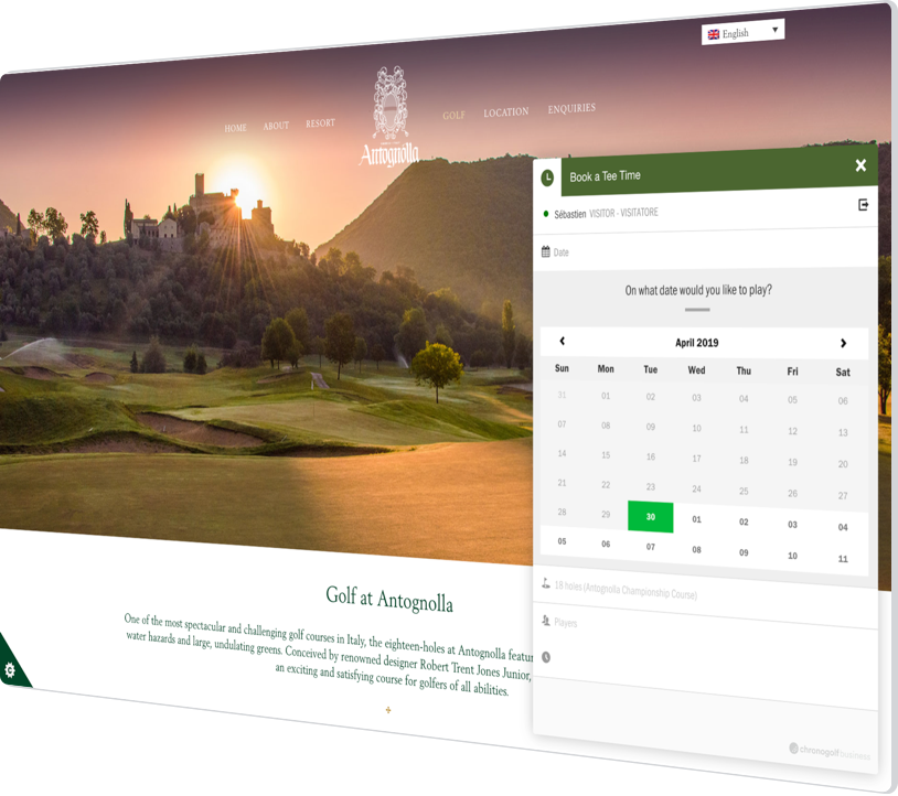 How Antognolla Golf Course Improved Efficiency and Reporting With Chronogolf's Best-of-Breed Strategy